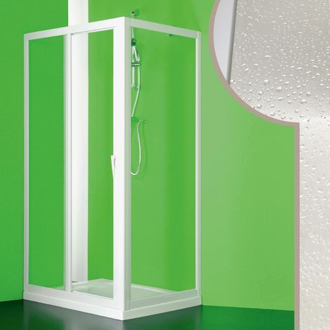 Acrylic shower enclosure mod. Mercurio with central opening