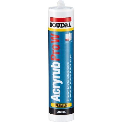 Acrylique Pro-W Premium- Acryl 310ml, noir SOUDAL(Par 15)