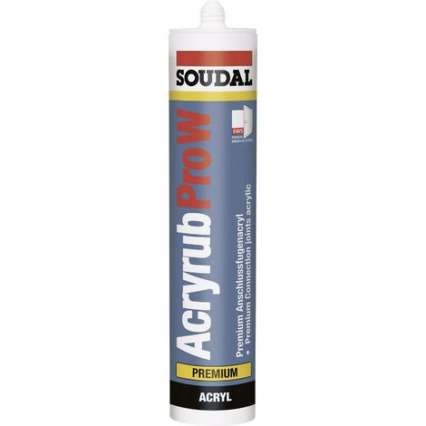 Acrylique Soudal ACRYRUB PRO W 9202 Couleur marron 310 ml V739651