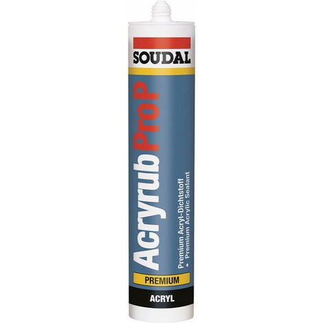 Acryrub Masilla 310Ml Soudal Blanco (Por 15)
