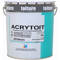Acrytoit Anthracite (16L) : Peinture de décoration et rénovation des toitures fibro ciment, ardoises, tuiles, terre cuite ou ciment