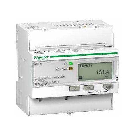 Acti9, iEM Compteur d énergie iEM3115 63A, Multi-tarifs, MID - A9MEM3115