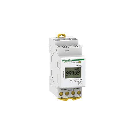 Acti9 iEM - compteur d energie modulaire monophasé - 230V - 63A - A9MEM2100