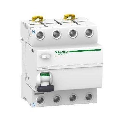 Acti9, iID interrupteur différentiel 4P 63A 30mA type AC Schneider Electric