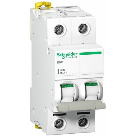Acti9 iSW interrupteur-sectionneur 2P 63A 415VAC, Schneider Electric réf. A9S65263