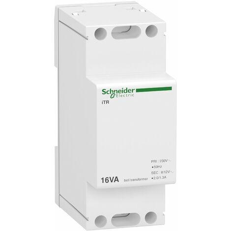 Acti9 iTR - transformateur de sonnerie et ronfleur - 16VA - 230Vca/8-12Vca - A9A15212
