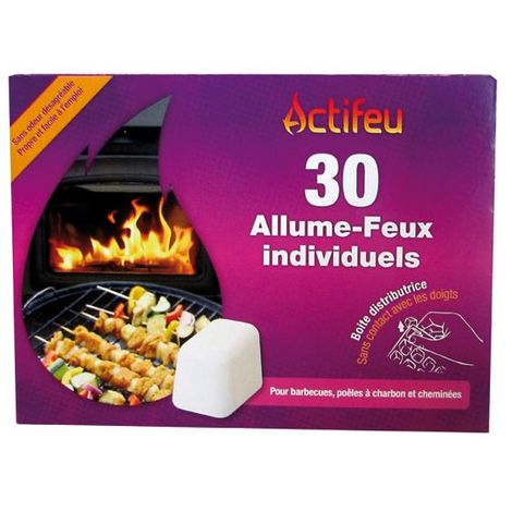 ACTIFEU - Allume feu sans odeur 30 cubes Actifeu