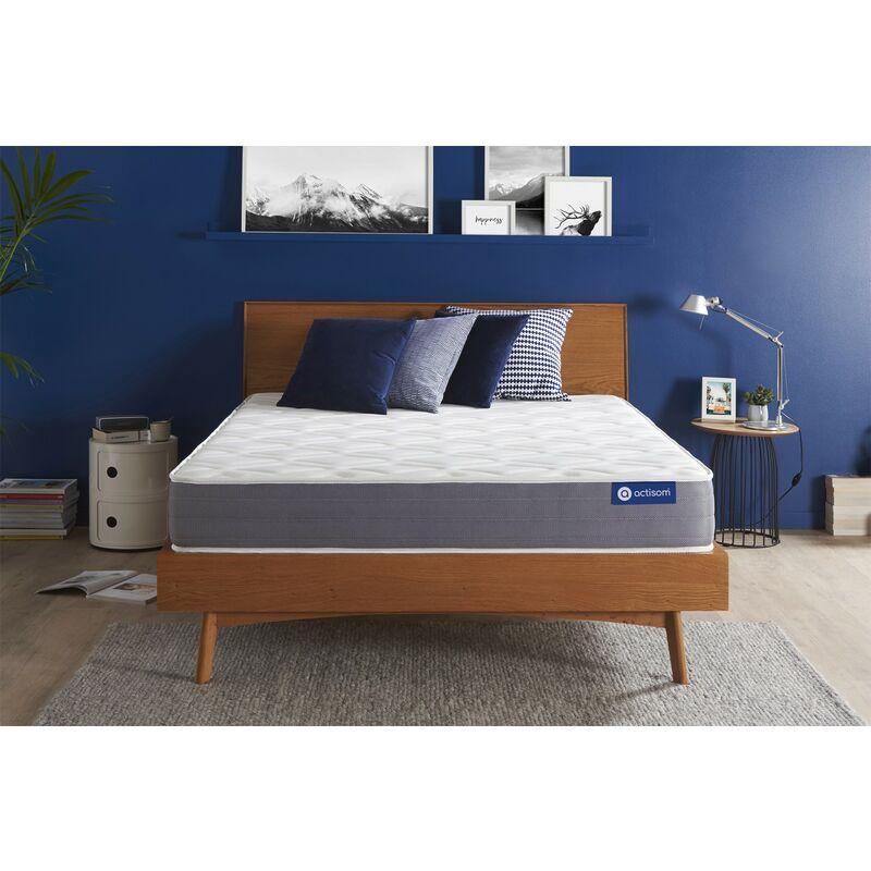 Actisom - Actiflex dream matratze 135x200cm, Taschenfederkern und Memory-Schaum, Härtegrad 3, Höhe :22 cm, 5 Komfortzonen