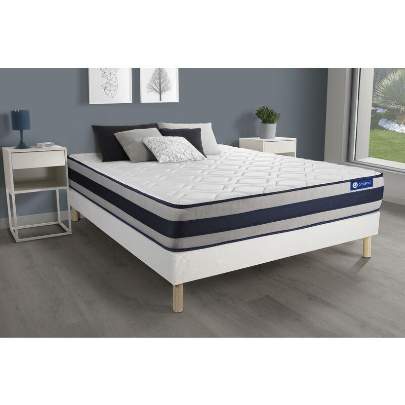 Actiflex ergo matratze 140x220cm + Bettgestell mit lattenrost , Härtegrad 4 , Taschenfederkern und Memory-Schaum , Höhe : 24 cm