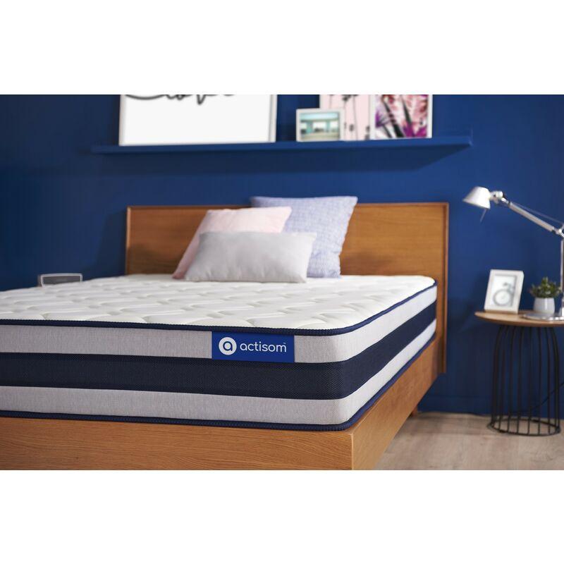 Actiflex ergo matratze 80x190cm, Taschenfederkern und Memory-Schaum, Härtegrad 4, Höhe :24 cm, 5 Komfortzonen
