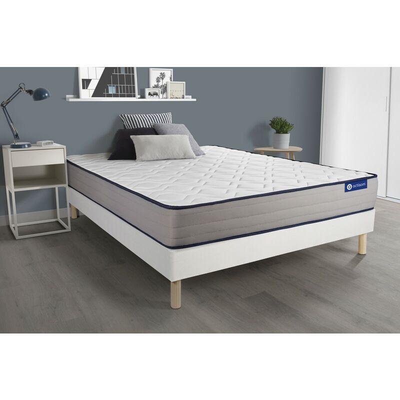 Actiflex form matratze 130x200cm + Bettgestell mit lattenrost , Härtegrad 4 , Taschenfederkern und Memory-Schaum , Höhe : 22 cm