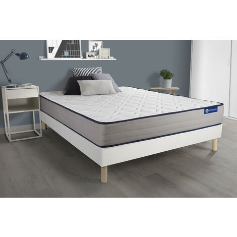 Actiflex form matratze 180x200cm + Bettgestell mit lattenrost , Härtegrad 4 , Taschenfederkern und Memory-Schaum , Höhe : 22 cm