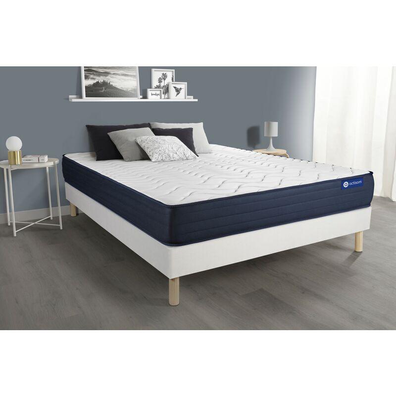 Actiflex life matratze 120 x 210cm + Bettgestell mit lattenrost , Härtegrad 5 , Taschenfederkern und Memory-Schaum , Höhe : 22