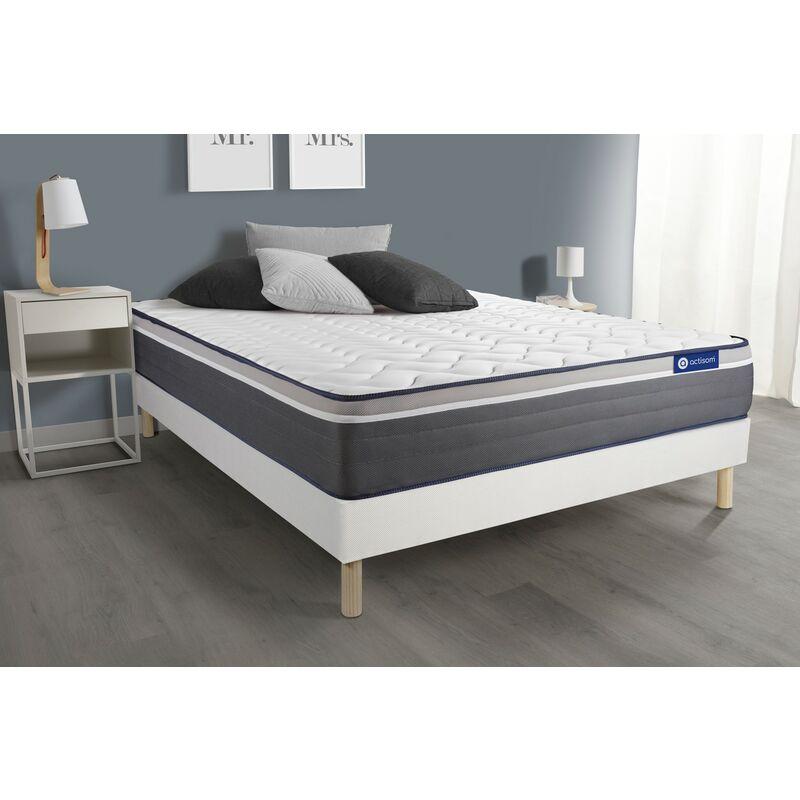 Actiflex plus matratze 120 x 190cm + Bettgestell mit lattenrost , Härtegrad 5 , Taschenfederkern und Memory-Schaum , Höhe : 26
