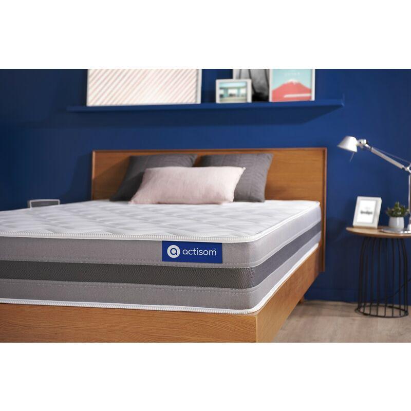 Actisom - Actiflex relax matratze 105x190cm, Taschenfederkern und Memory-Schaum, Härtegrad 3, Höhe :24 cm, 5 Komfortzonen