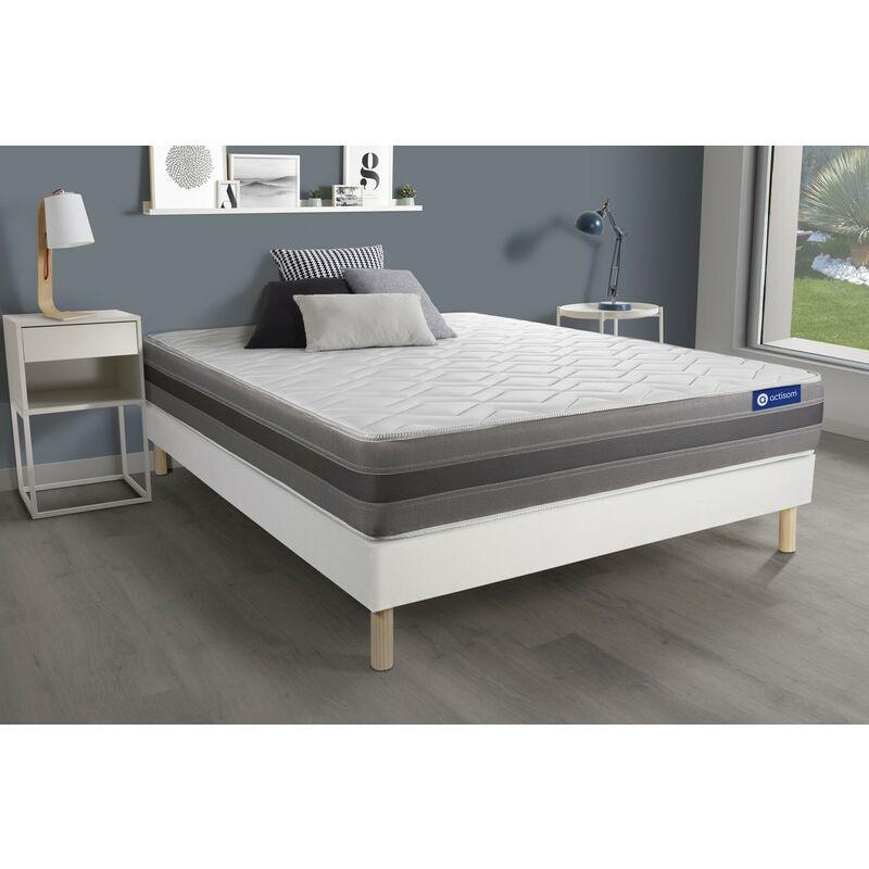 Actiflex relax matratze 130x220cm + Bettgestell mit lattenrost , Härtegrad 3 , Taschenfederkern und Memory-Schaum , Höhe : 24 c