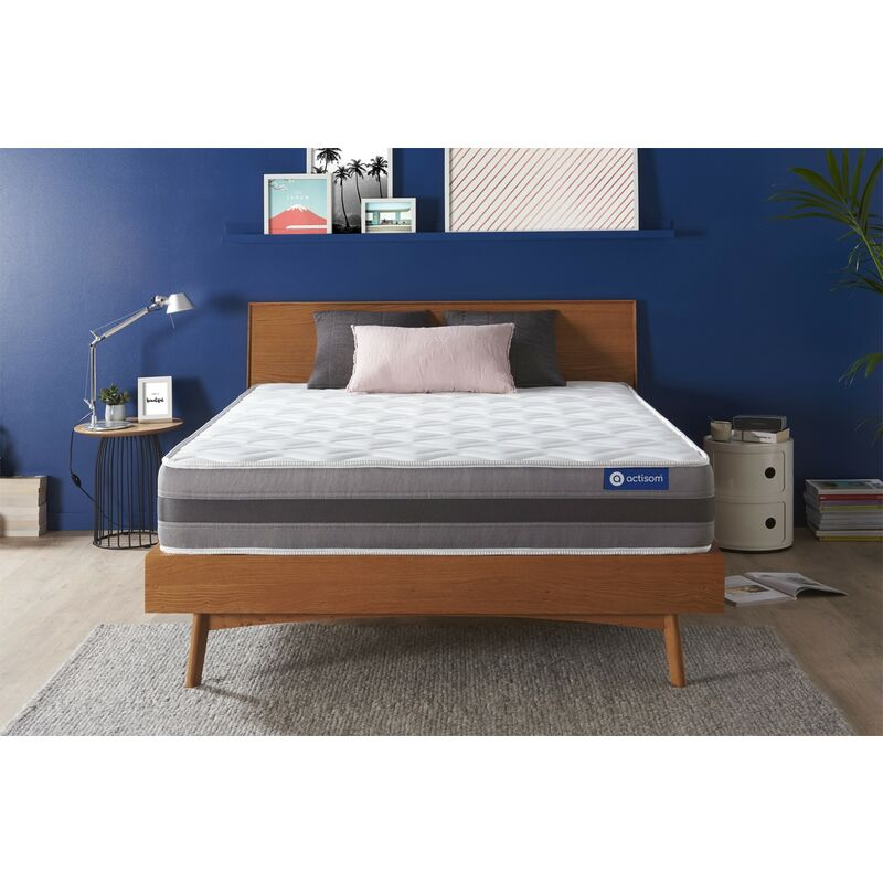 Actisom - Actiflex relax matratze 150x190cm, Taschenfederkern und Memory-Schaum, Härtegrad 3, Höhe :24 cm, 5 Komfortzonen