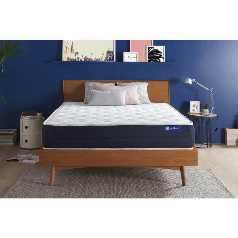 Actisom - Actiflex sleep matratze 200x200cm, Dicke : 22 cm, Taschenfederkern und Memory-Schaum, Mittel, 5 Komfortzonen, H3