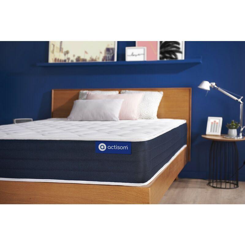 Actisom - Actiflex sleep matratze 70x220cm, Dicke : 22 cm, Taschenfederkern und Memory-Schaum, Mittel, 5 Komfortzonen, H3