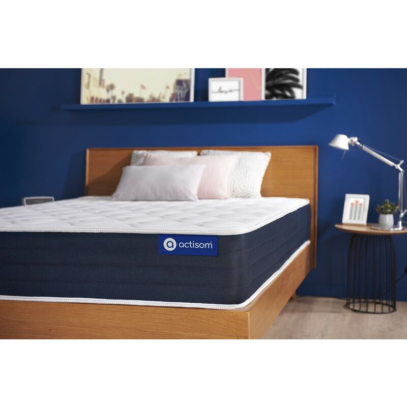 Actisom - Actiflex sleep matratze 80x220cm, Dicke : 22 cm, Taschenfederkern und Memory-Schaum, Mittel, 5 Komfortzonen, H3