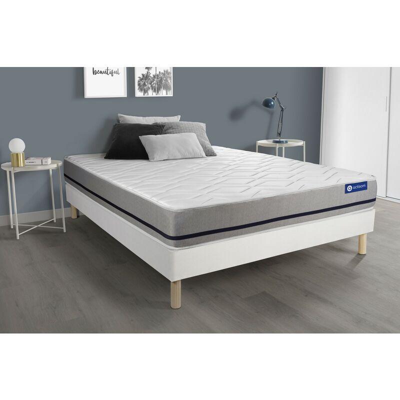 Actiflex soft matratze 150x190cm + Bettgestell mit lattenrost , Härtegrad 3 , Taschenfederkern , Höhe : 20 cm