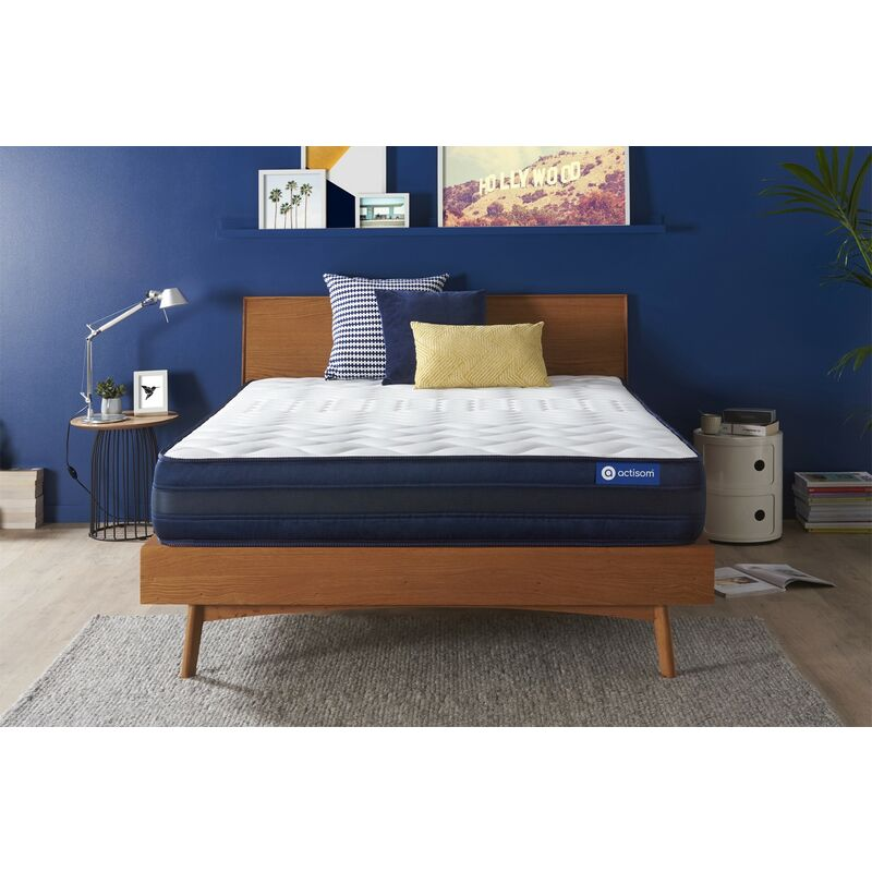 Actisom - Actiflex tech matratze 130x200cm, Taschenfederkern und Memory-Schaum, Härtegrad 5, Höhe :24 cm, 5 Komfortzonen