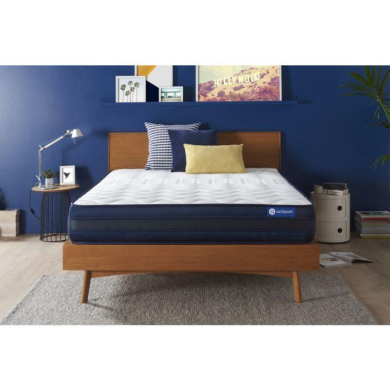 Actisom - Actiflex tech matratze 140x220cm, Taschenfederkern und Memory-Schaum, Härtegrad 5, Höhe :24 cm, 5 Komfortzonen