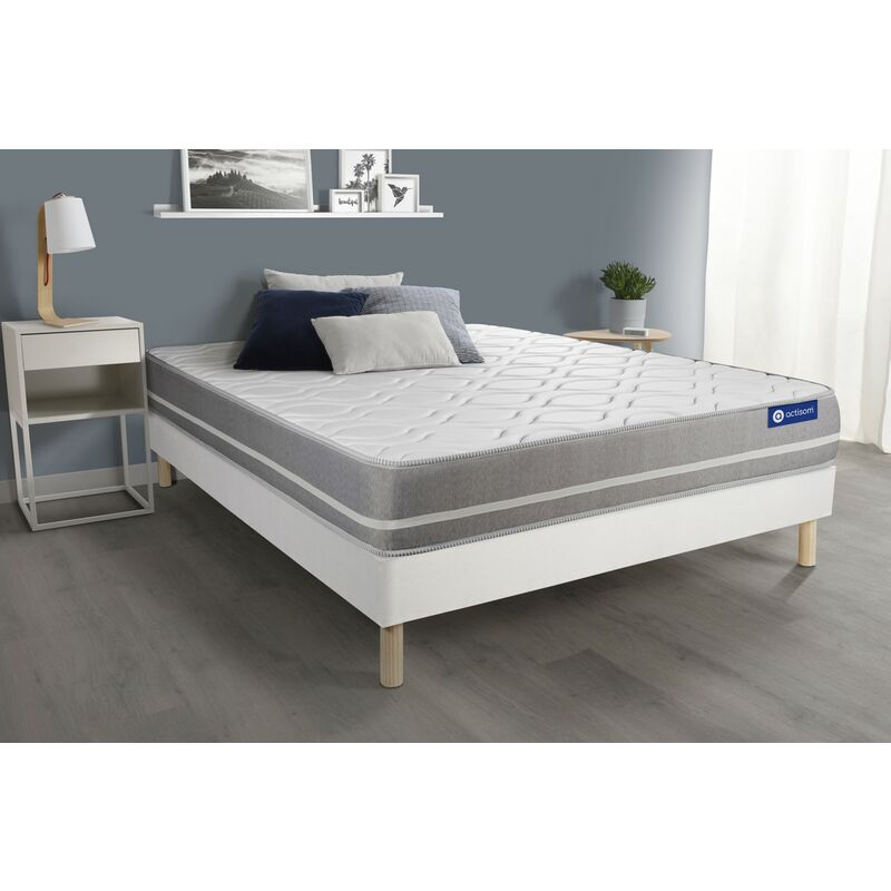 Actiflex touch matratze 130x220cm + Bettgestell mit lattenrost , Härtegrad 2 , Taschenfederkern , Höhe : 20 cm
