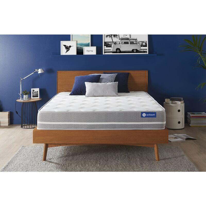 Actiflex touch matratze 133x182cm, Dicke : 20 cm, Taschenfederkern, Mittel, 3 Komfortzonen, H3 - ACTISOM