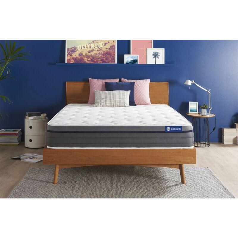 Actiflex zen matratze 130x210cm, Dicke : 26 cm, Taschenfederkern und Memory-Schaum, Mittel, 7 Komfortzonen, H3 - ACTISOM