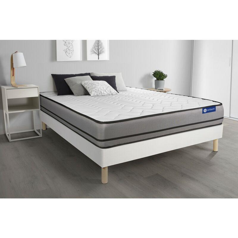 Actilatex night matratze 160x200cm + Bettgestell mit lattenrost , Härtegrad 5 , Latex und Memory-Schaum , Höhe : 20 cm