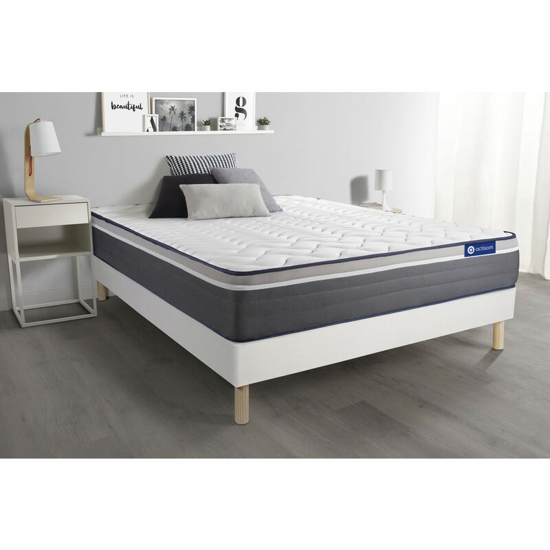 Actilatex plus matratze 140x210cm + Bettgestell mit lattenrost , Härtegrad 5 , Latex und Memory-Schaum , Höhe : 26 cm