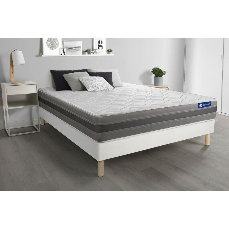 Actilatex relax matratze 120 x 210cm + Bettgestell mit lattenrost , Härtegrad 3 , Latex und Memory-Schaum , Höhe : 24 cm