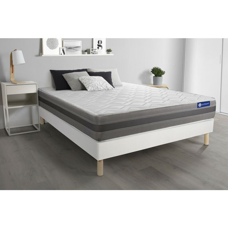 Actilatex relax matratze 130x190cm + Bettgestell mit lattenrost , Härtegrad 3 , Latex und Memory-Schaum , Höhe : 24 cm