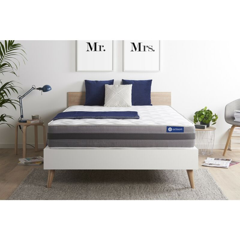 Actisom - Actilatex relax matratze 135x190cm, Latex und Memory-Schaum, Härtegrad 3, Höhe :24 cm, 5 Komfortzonen