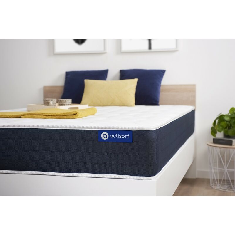 Actisom - Actilatex sleep matratze 105x200cm, Dicke : 22 cm, Latex und Memory-Schaum, Mittel, 5 Komfortzonen, H3