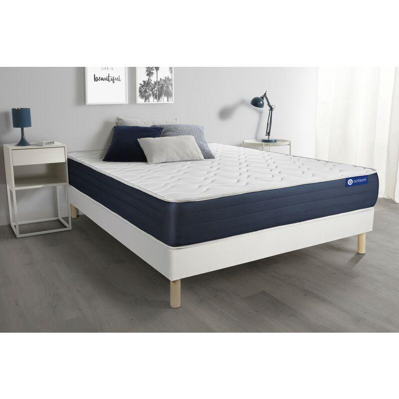 Actilatex sleep matratze 180x200cm + Bettgestell mit lattenrost - Dicke : 22cm - Latex und Memory-schaum - H3 - ACTISOM