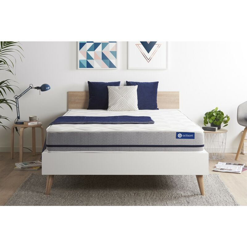 Actisom - Actilatex soft matratze 130x190cm, Latex und Memory-Schaum, Härtegrad 3, Höhe :20 cm, 3 Komfortzonen