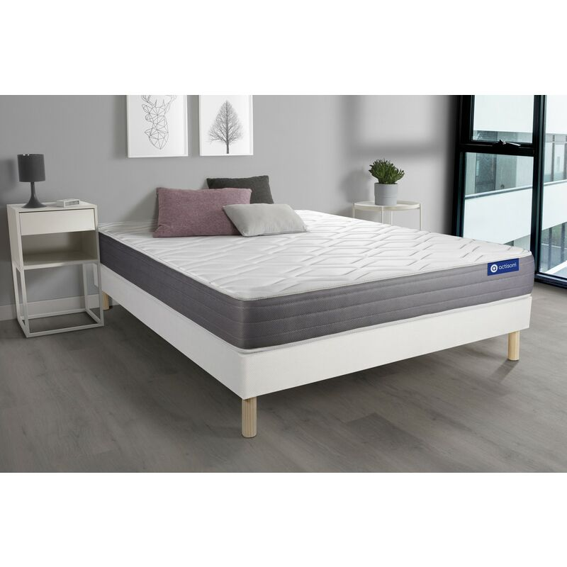 Actimemo dream matratze 160x220cm + Bettgestell mit lattenrost - Dicke : 22cm - Memory-schaum - H3 - ACTISOM