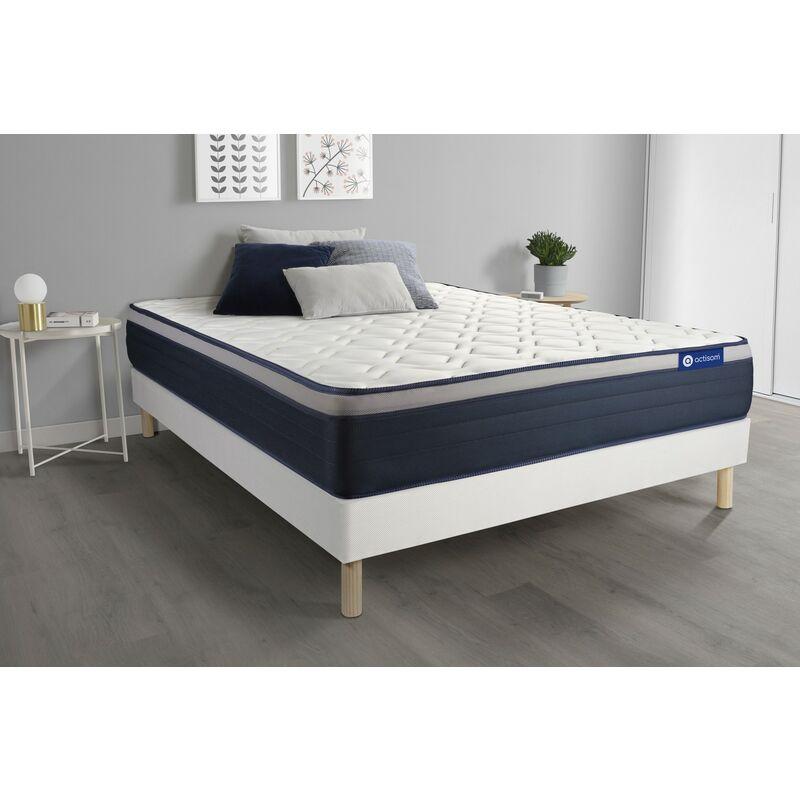 Actimemo max matratze 130x200cm + Bettgestell mit lattenrost , Härtegrad 4 , Memory-Schaum , Höhe : 26 cm