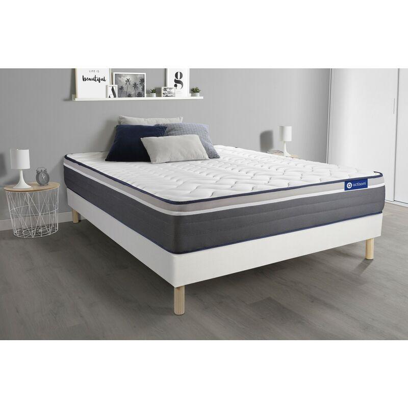 Actimemo plus matratze 130x200cm + Bettgestell mit lattenrost , Härtegrad 5 , Memory-Schaum , Höhe : 26 cm