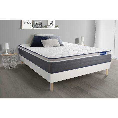 Actimemo plus matratze 180x200cm + Bettgestell mit lattenrost , Härtegrad 5 , Memory-Schaum , Höhe : 26 cm