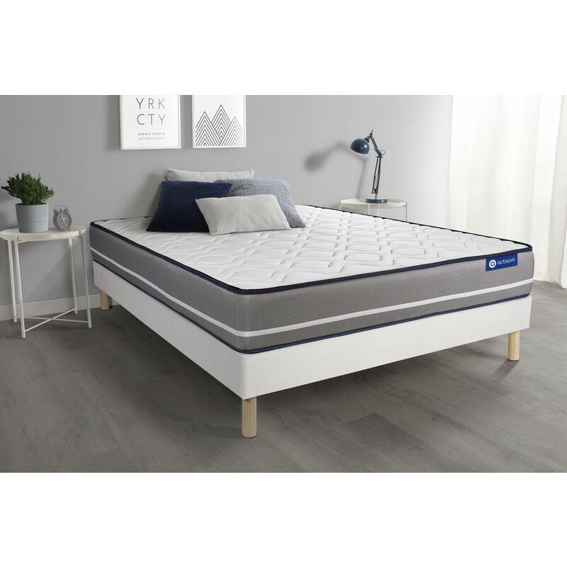 Actimemo pur matratze 150x190cm + Bettgestell mit lattenrost , Härtegrad 4 , Memory-Schaum , Höhe : 20 cm