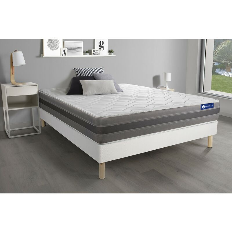 Actimemo relax matratze 130x210cm + Bettgestell mit lattenrost , Härtegrad 3 , Memory-Schaum , Höhe : 24 cm