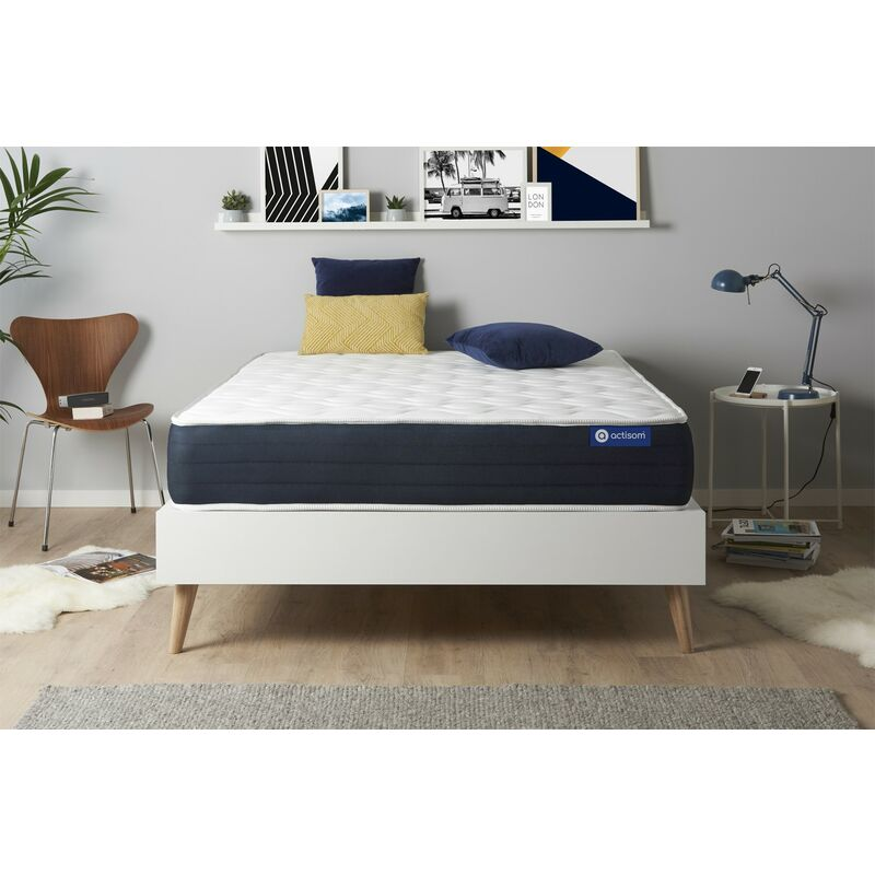 Actimemo sleep matratze 140x190cm, Dicke : 22 cm, Memory-Schaum, Mittel, 5 Komfortzonen, H3 - ACTISOM