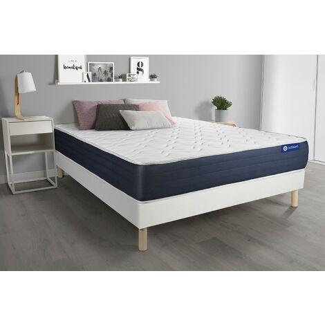 Actimemo sleep matratze 180x200cm + Bettgestell mit lattenrost , Härtegrad 2 , Memory-Schaum , Höhe : 22 cm