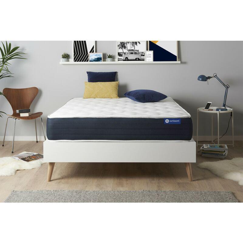 Actisom - Actimemo sleep matratze 200x200cm, Dicke : 22 cm, Memory-Schaum, Mittel, 5 Komfortzonen, H3
