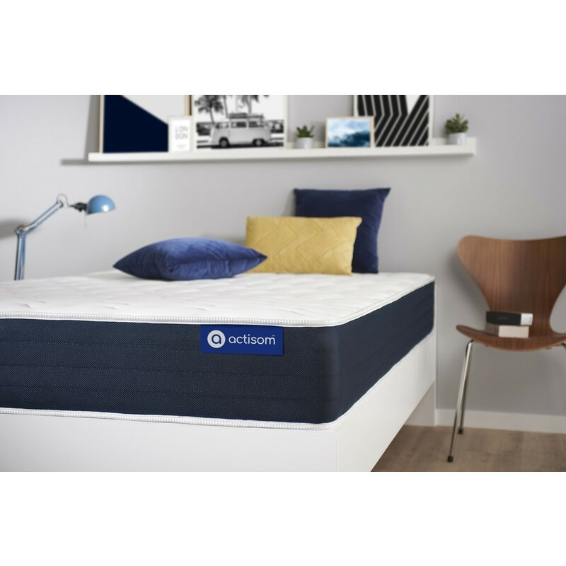 Actisom - Actimemo sleep matratze 70x190cm, Dicke : 22 cm, Memory-Schaum, Mittel, 5 Komfortzonen, H3