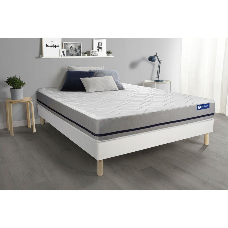 Actimemo soft matratze 130x200cm + Bettgestell mit lattenrost , Härtegrad 3 , Memory-Schaum , Höhe : 20 cm