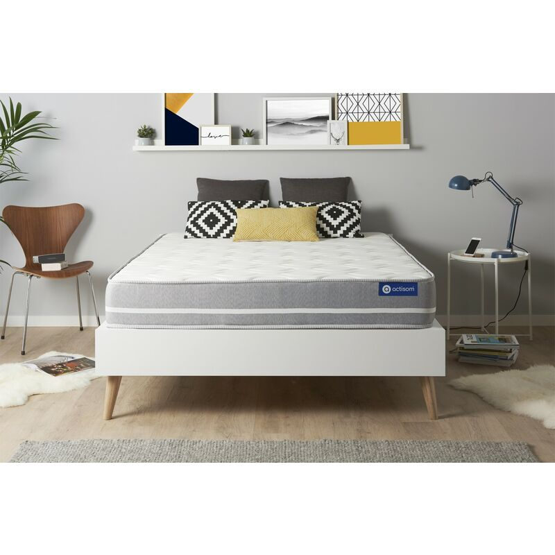 Actimemo touch matratze 120x190cm, Dicke : 20 cm, Memory-Schaum, Mittel, 3 Komfortzonen, H3 - ACTISOM